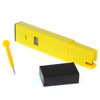 Wholesale Mini Digital LCD PH Meter Tester Pen Aquarium Pool laboratory Yellow freeshipping dropshipping