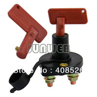 Wholesale 6pcs New Battery Disconnect Kill Cut Off Cutoff Switch for Car Boat Truck Brass Terminals TK0342