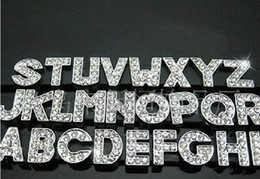 Wholesale 2014 Clearance Sale DIY Side Letters With Rhinestone For mm Pet Dog Collars