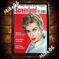 Wholesale Mike86 SCREENLAND Movie Metal Plaque Wall Decor Painting ART vintage House Bar Tin Signs A Mix Items CM