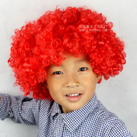 120g afro wigs - Hot Child Adult Party Rainbow Afro wig Clown Costume Football Fan Wig Hair Halloween