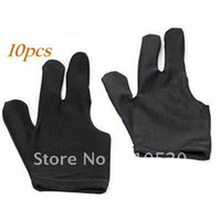 Wholesale Black Cue Billiard Pool Shooters Fingers Gloves