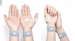 Wholesale natural nausea relief band motion sickness wrist band for travel morning sickness washable