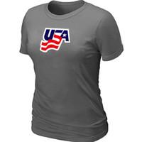 Cheap 2014 Women's Olympic Team USA Ice Hockey Olympics Graphic Legend Locker Room T-Shirt D.Grey Jerseys Dark Grey Walking clothes