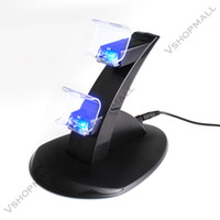 Wholesale LED USB Charger Charging Dock Station Stand for Dual PlayStation PS4 Game Controller