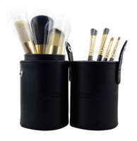 7 Pieces Face Powder Brushes  One Set of 7Pcs Professional Makeup Cosmetic Brush Set Kit Tool With cylinder box mmkk2
