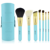 7 Pieces Face Powder Brushes  One Set of 7Pcs Professional Makeup Cosmetic Brush Set Kit Tool With cylinder box mmkk4