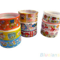 Wholesale 20 rolls of kawaii lovely deco cartoon tape scrapbooking adhesive paper sticker for office school use