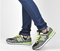 Wholesale Ladies fashion N letters leopard leisure sports shoes slow running shoes