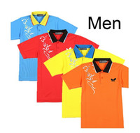 Wholesale NEW butterfly men s ping pong shirtTable Tennis shirts Badminton T shirt color