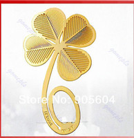 Wholesale Reading Four leaf Clover Metal Clip Bookmark Gift Book Mark For Kids
