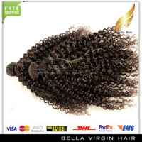 Wholesale Mongolian Virgin Hair Human Hair Extensions quot quot quot quot quot Kinky Curly Weave Natural Color Bellahair New Star Hair On Sale
