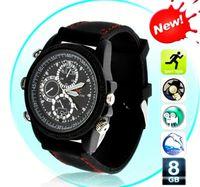 8G   NEW- waterproof watch spy camera hidden pinhole camera sports spy camera watch mini DVR