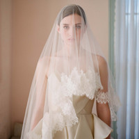 Cheap Vintage bridal wedding dress veil quality luxury car eyeholes veil lace decoration