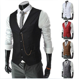 Wholesale Fashion new men vests High quality Korean slim fit Business casual Metal chain vest men s outwear