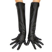 Wholesale ladies Opera Long Genuine Soft Nappa Leather Gloves Mittens
