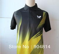 Wholesale Butterfly Man s Badminton table tennis shirt color color polo table tennis Men shirt