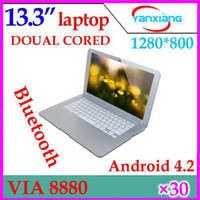 Wholesale DHL Inch Android Laptop Netbook Computer G GB WiFi Bluetooth HDMI ultra thin Netbook YX MID