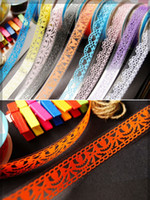 Wholesale 12Pcs MM M DIY Decorative PVC Hollow Out Lace Tape Office Stationery Design Adhesive Mixed Color mm mm In Stock