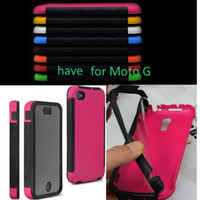 Wholesale hybrid Armor shock proof coating touch screen combo case cover skin shell for Motorola Moto G shock proof fashion case