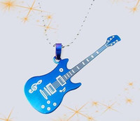 Wholesale Designer jewelry High Quality Titanium Steel Korean Music Guitar Piano Theme Necklace