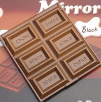 Wholesale NEW cute Chocolate portable pocket cosmetic make up mirror lady mirror Design