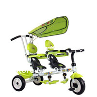 Wholesale High discount baby tricycles Twin children tricycle double seats two seats Retail