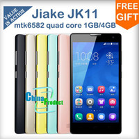 "Jiake 5.0 Android 5.0"" QHD Screen JIAKE JK11 Quad Core MTK6582 Android 4.2 Dual Camera Bluetooth 1GB Magyar Greek Unlocked 3G Smart Mobile Cell Phone 002039"