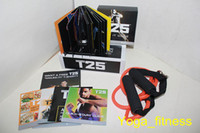Cheap Latest Shaun T's Focus T25 Workout Home Body Exercise DVD With Resistance Band Factory Supply Best Quality Slimming Muscle Shaping