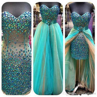 2014 Hunter Green Short homecoming Dresses Hi- lo Strapless C...