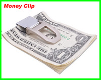 Wholesale Lowest price Slim Stainless Steel Money Clip Card Holder Wallet