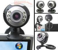 Wholesale 30 Mega USB LED Webcam Web Cam Camera with Micphone for PC Laptop Computer ship by China Post
