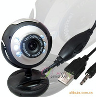 Wholesale 10pcs web cam computer camera digital USB LED Webcam with Mic Digital Camera usb webcam pc webcam