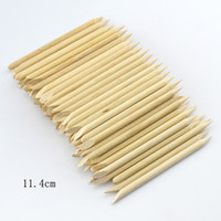 Wholesale Nail Art Files Implements cm Wood Stick Tools for Nail Art Cuticle Pusher Remover Clean Wipes Cotton Lint Pads Paper T422