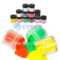 Full Natural Tips Square  Nail Tips Hot!! 12Colors Acrylic Powder Dust Jumbo Set for Professional Nail Art Design Free Shipping