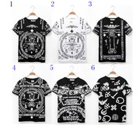 Wholesale New Spring Hip Hop Man short sleeve T shirt fashion graffiti personality T shirt