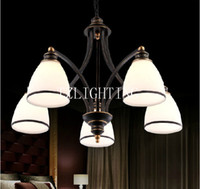 Wholesale Vintage Style Chandelier Pendent Metal Ceiling Light Glass Pendent Lamp Living Room Dining Room Bedroom Lighting