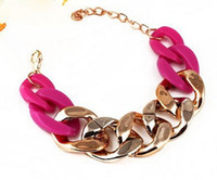 Wholesale Blending Cheap Fashion Gold Alloy Chain Chain Chunky Bracelet Women Bangles