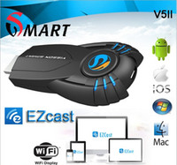 Wholesale New Android TV box v5ii ezcast smart tv stick media player with function of DLNA Miracast box chromecast mk808 mk908