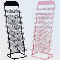 Black or Pink,optional floor stand display - Metal flooring nail polish display stand rack for nail art display or layers available
