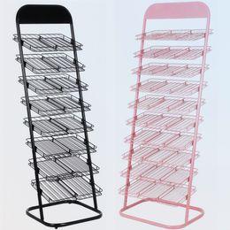 Metal flooring nail polish display stand rack for nail art display,8 or 10 layers available