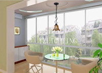 Wholesale Matte Black Chandelier Light European Style Glass Pendent Lamp Metal Living Room Dining Room Bedroom Lighting