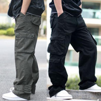 Mens slim bootcut cargo pants