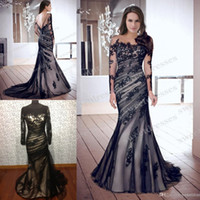 Wholesale Real Model Hot Sale New Elegant Sexy Mermaid Lace Dress with long Sleeves Evening Dresses Prom Dresses TK111