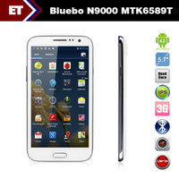5.7 Android 1G Original 5.7 inch Bluebo N9000 Quad Core Smartphone MTK6589T 1.5GHz Android 4.2 Dual sim card Dual Camera 12.0MP