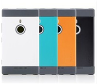 Wholesale High Quality TPU PC in1 Double Colors Rock Fashion Cooling Phone Case with Dirt Resistance Plug for Nokia Via DHL