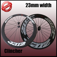 Wholesale 23mm width ZIPP carbon clincher bicycle wheels c carbon fiber road racing bicycle wheelsets