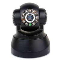 Wholesale Wireless IP Camera Security Built in Mic Night Vision Motion Monitor Android F1033A without logo black with retail package