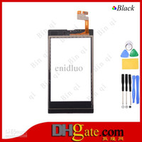 Wholesale 10PCS OEM Digitizer Touch Panel Glass Screen For Nokia N520 Black With Tools
