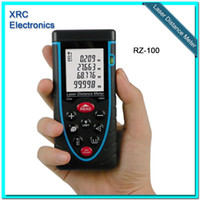 Wholesale RZ100 m ft Laser distance meter with bubble level Rangefinder Range finder Tape measure OEM